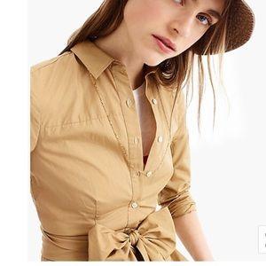 J. Crew Dresses - J. Crew Tie-waist shirtdress, Size 2